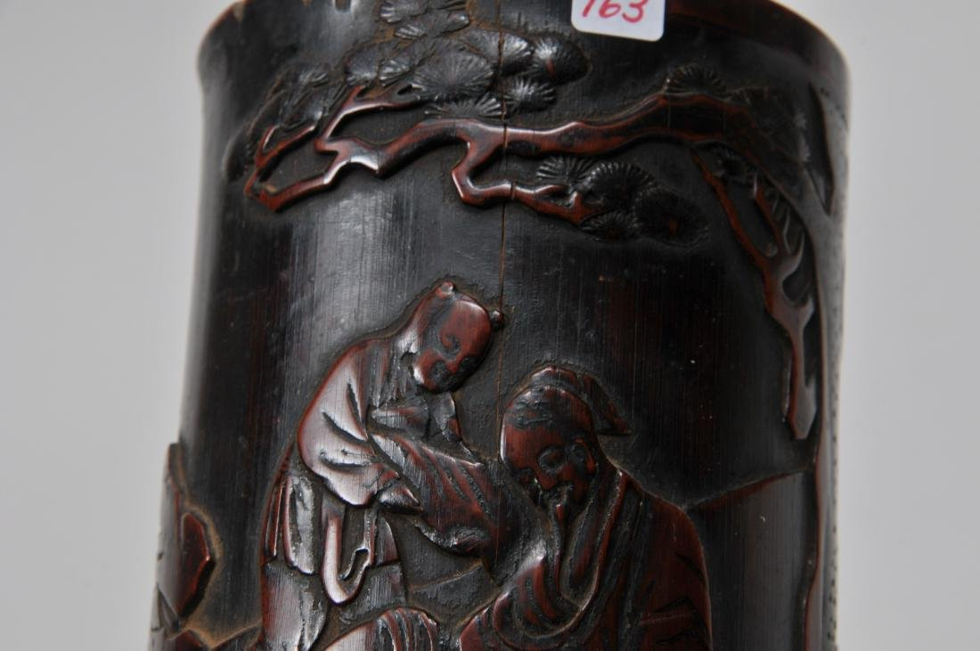 Bamboo brush pot. China. 18th century. Carving of the - 5