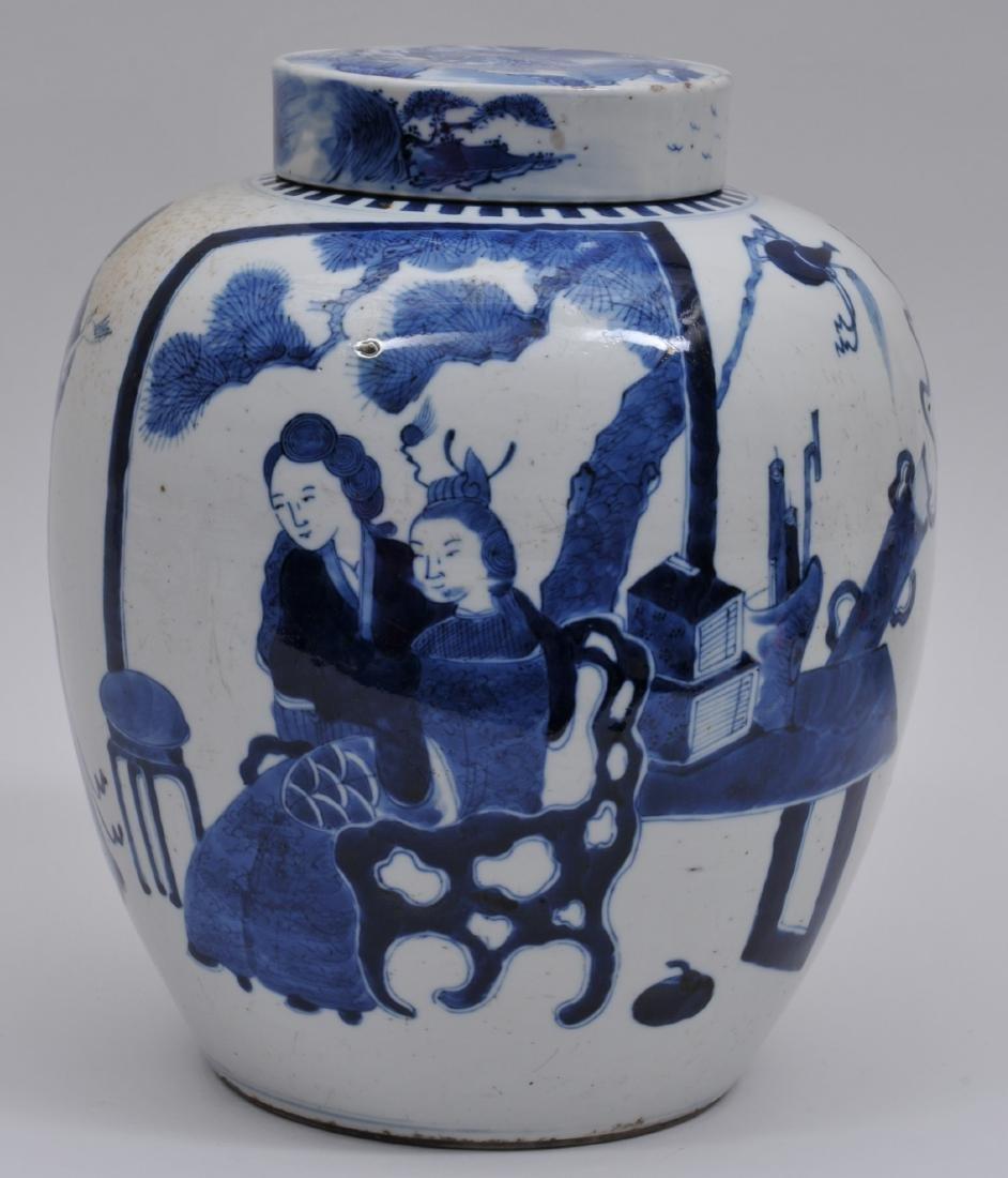 Porcelain covered jar. China. 19th century. Oviform. - 3