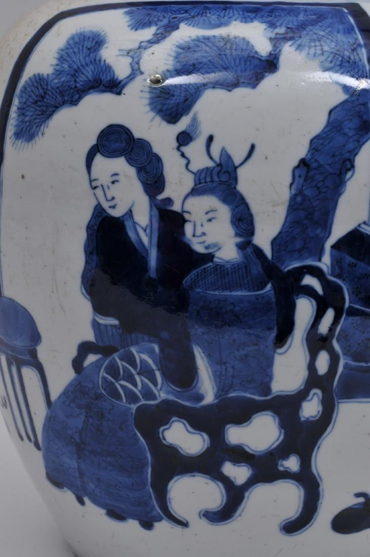 Porcelain covered jar. China. 19th century. Oviform. - 4