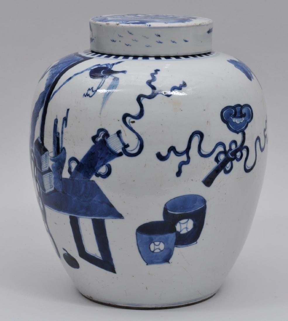Porcelain covered jar. China. 19th century. Oviform. - 5