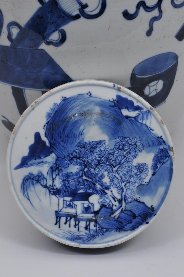 Porcelain covered jar. China. 19th century. Oviform. - 6