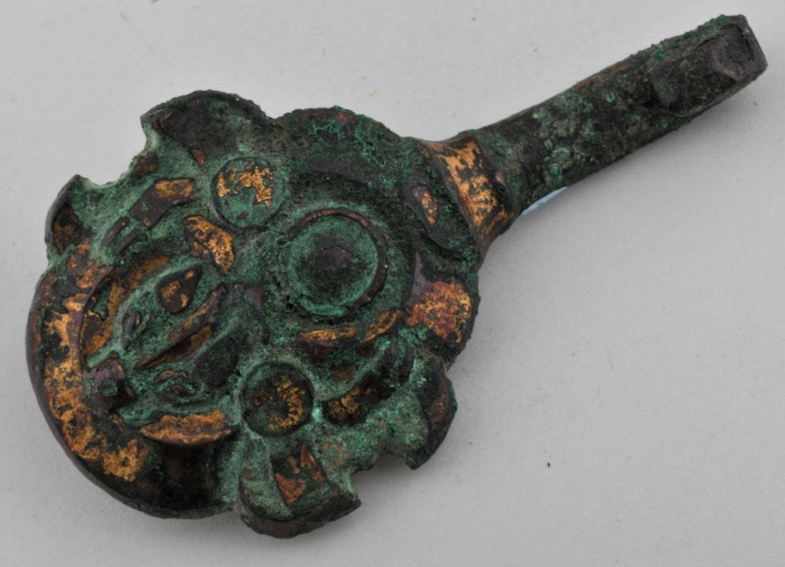 Gilt bronze buckle. China. Warring States period 6-3