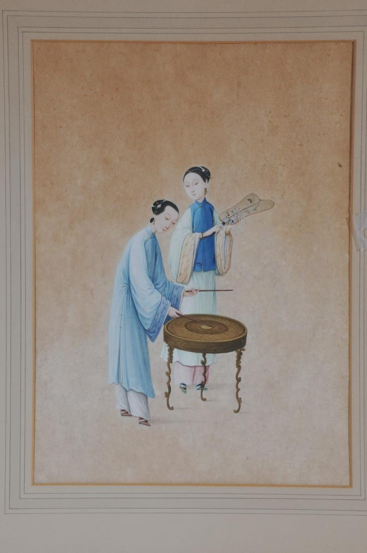 Two paintings. China. 19th century. To include: an - 2