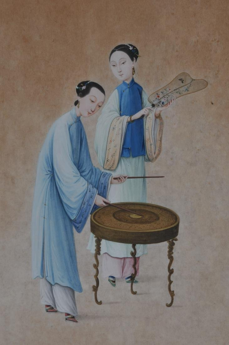 Two paintings. China. 19th century. To include: an - 3