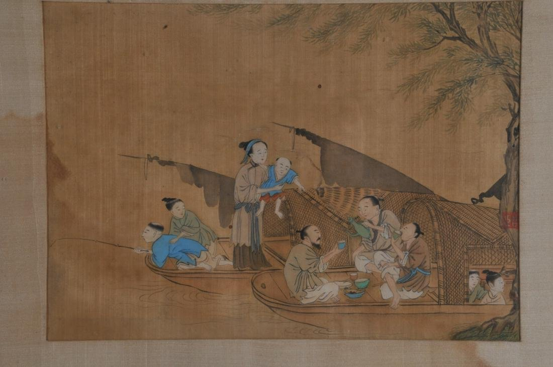 Two paintings. China. 19th century. To include: an - 4