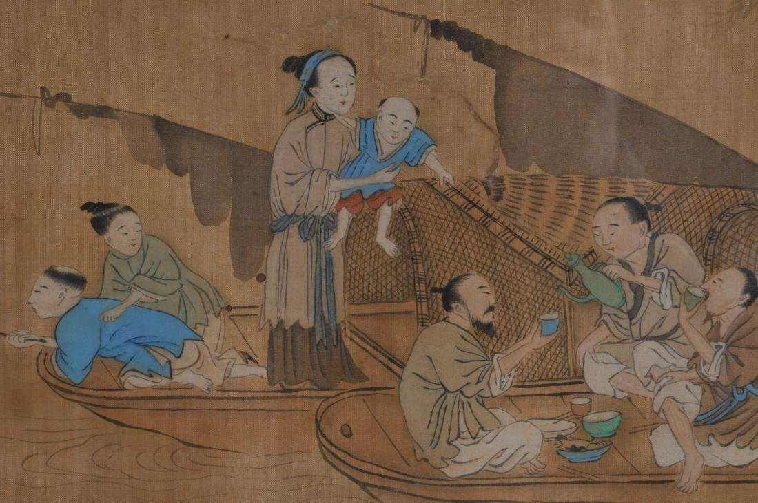 Two paintings. China. 19th century. To include: an - 5