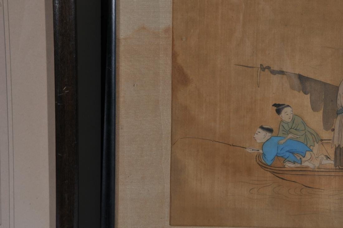 Two paintings. China. 19th century. To include: an - 6
