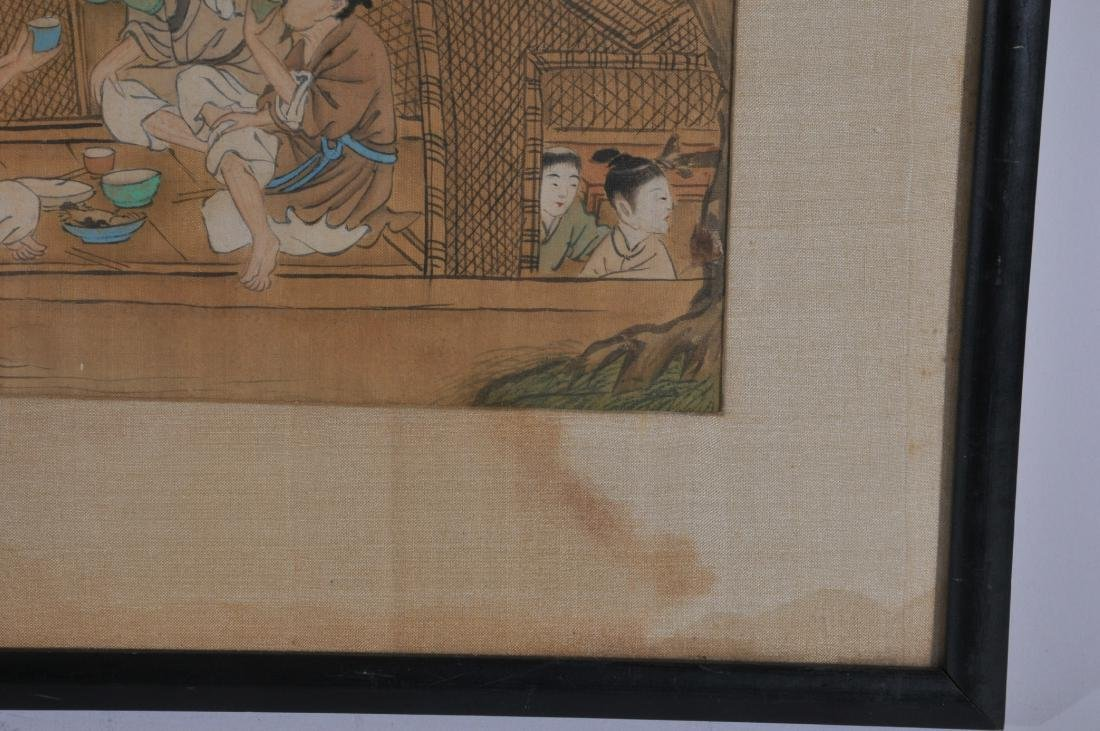 Two paintings. China. 19th century. To include: an - 7