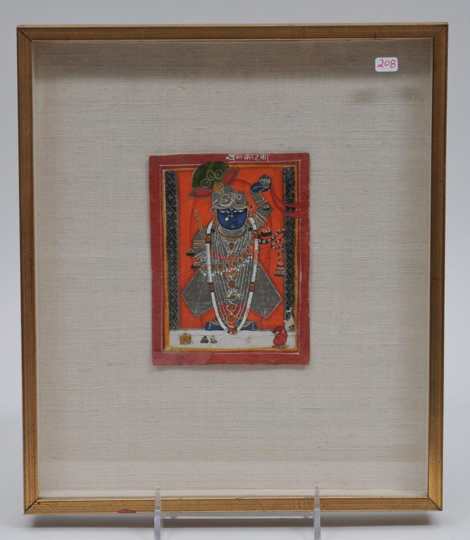 Miniature painting. India. 19th century. Ink, mineral