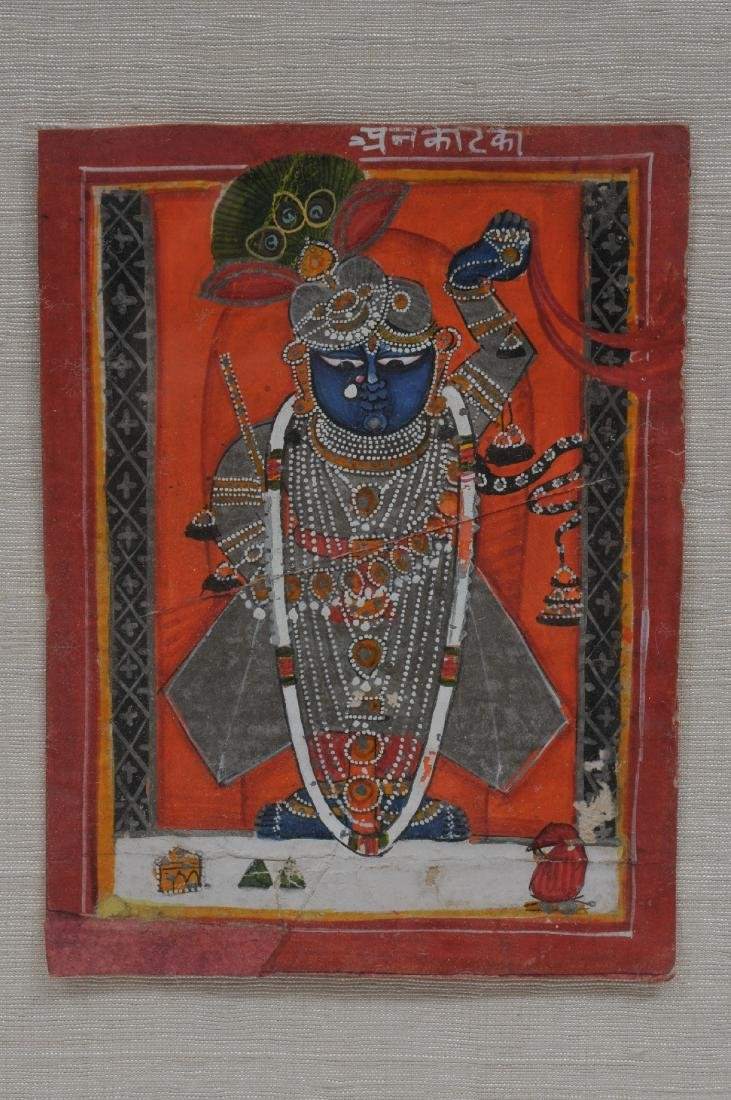Miniature painting. India. 19th century. Ink, mineral - 2
