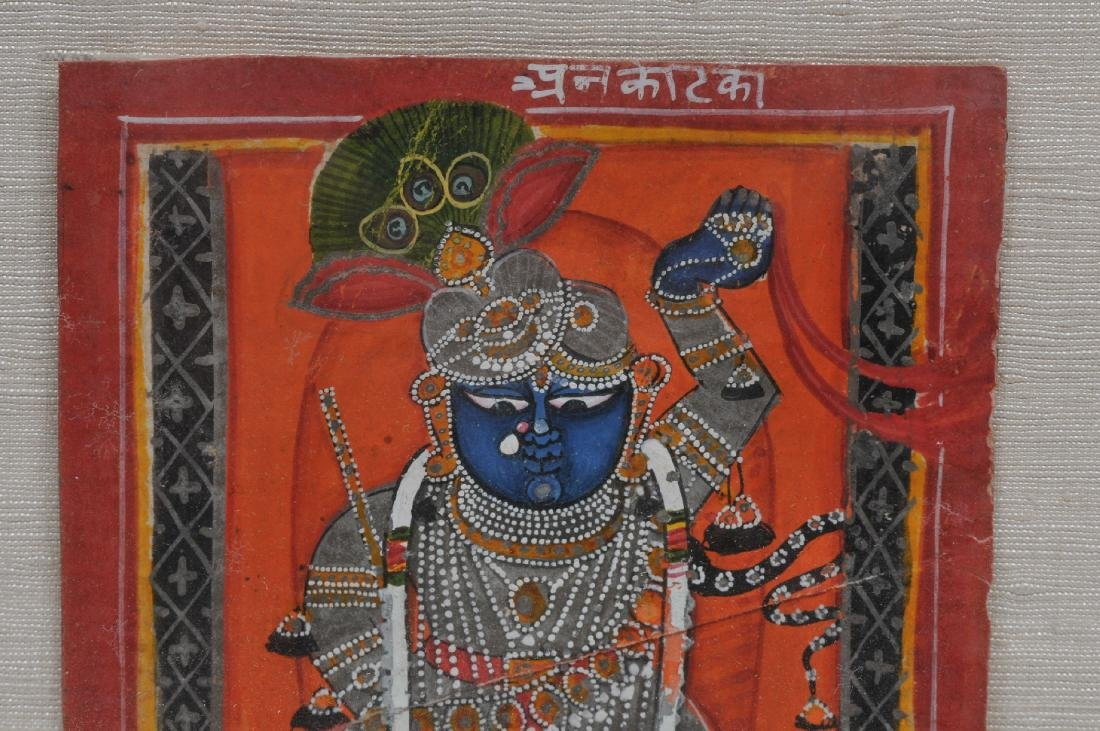 Miniature painting. India. 19th century. Ink, mineral - 5