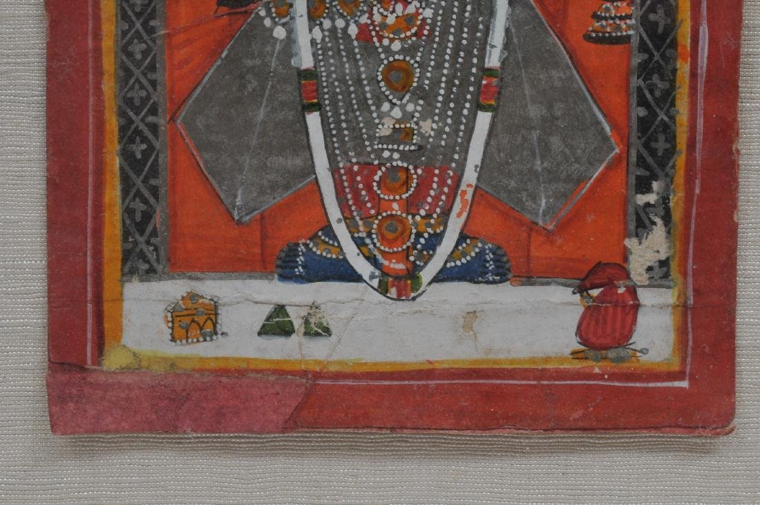 Miniature painting. India. 19th century. Ink, mineral - 6