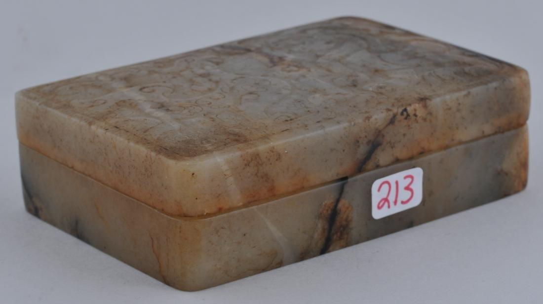 Jade box. China. 19th century. Rectangular shape stone - 2