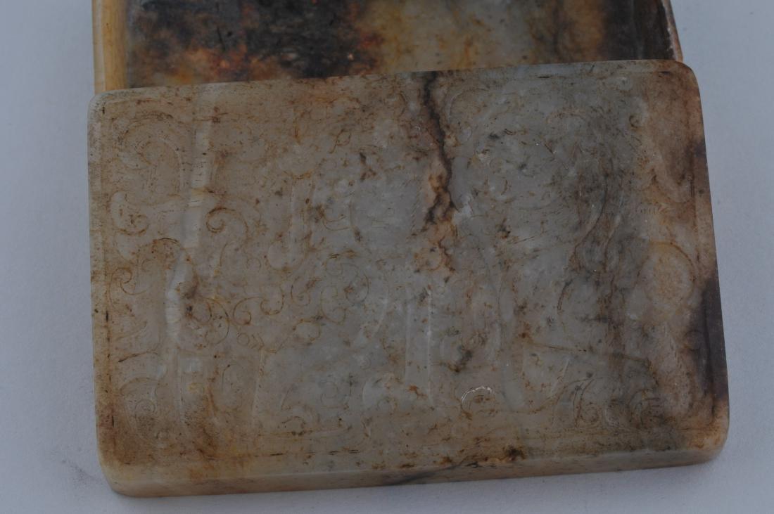Jade box. China. 19th century. Rectangular shape stone - 3