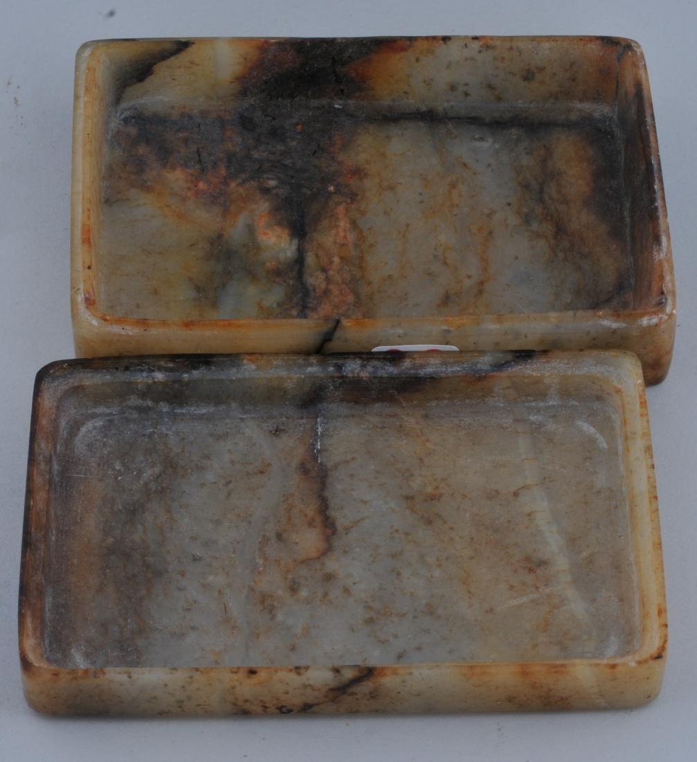 Jade box. China. 19th century. Rectangular shape stone - 5