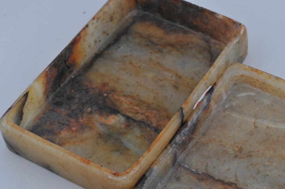 Jade box. China. 19th century. Rectangular shape stone - 6
