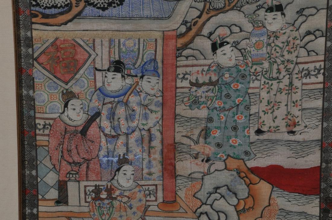 Textile panel. China. Late 19th century. K'ossu - 4