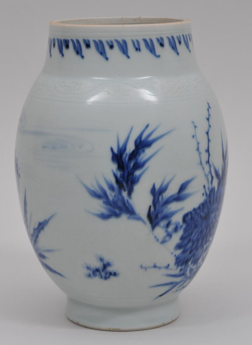 Porcelain jar. China. Transistional period. 1620-1670. - 2