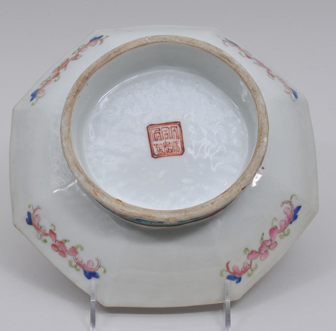Porcelain footed dish. China. 19th century. Octagonal - 5