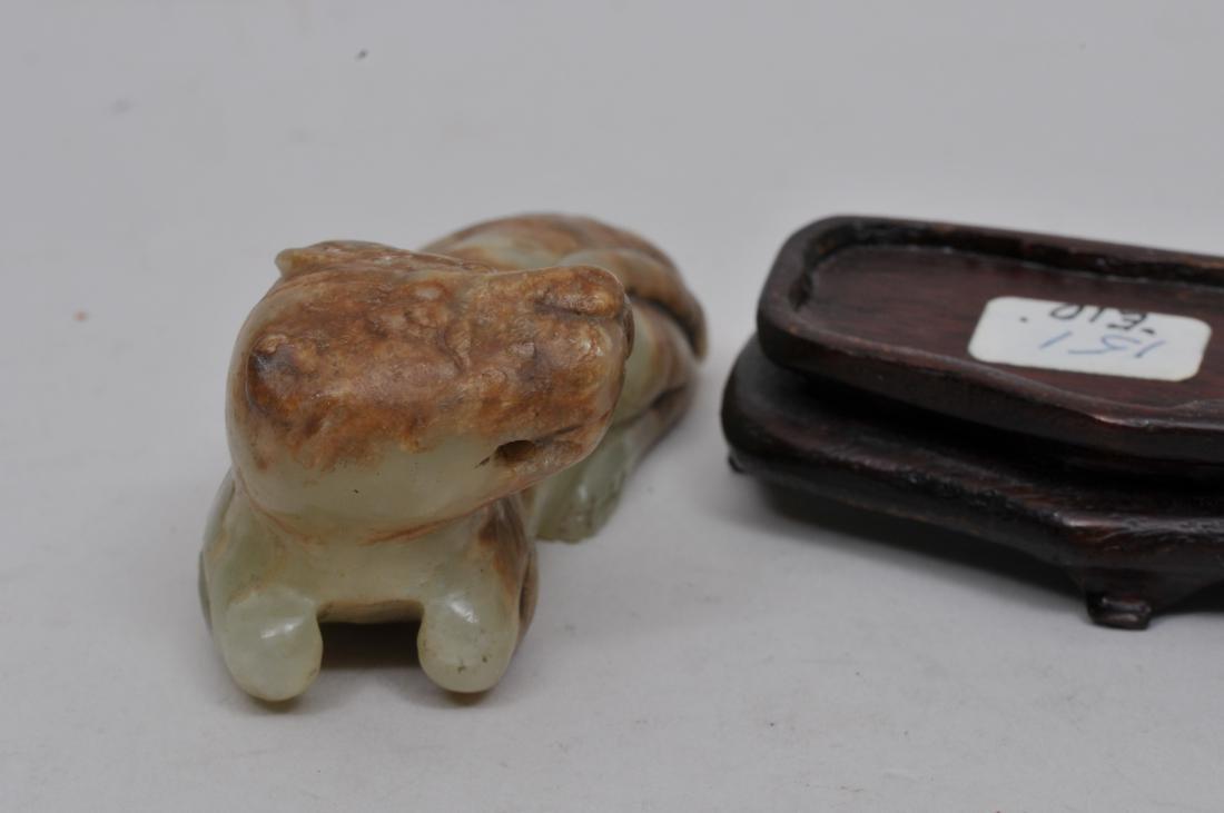 Jade Animal. Ming Period or earlier. Onion skin - 4