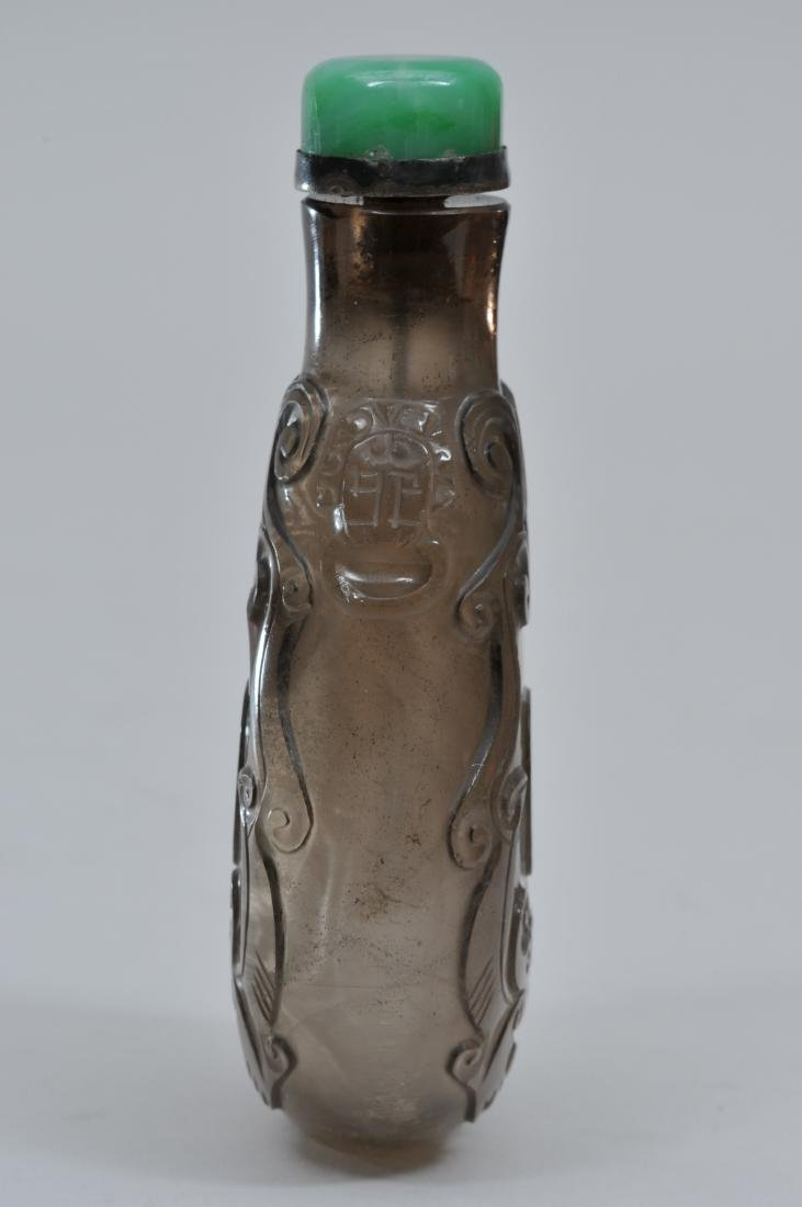 Snuff  bottle. China. 19th century. Elongated gourd - 2