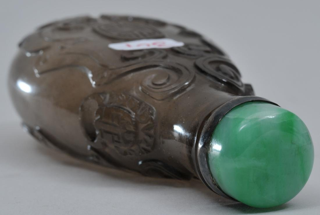 Snuff  bottle. China. 19th century. Elongated gourd - 4