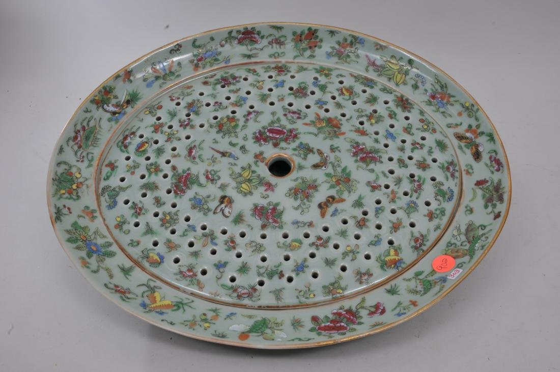 Chinese Export platter and liner. Mid to late 19th