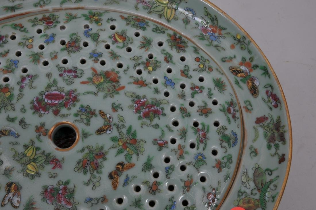 Chinese Export platter and liner. Mid to late 19th - 2