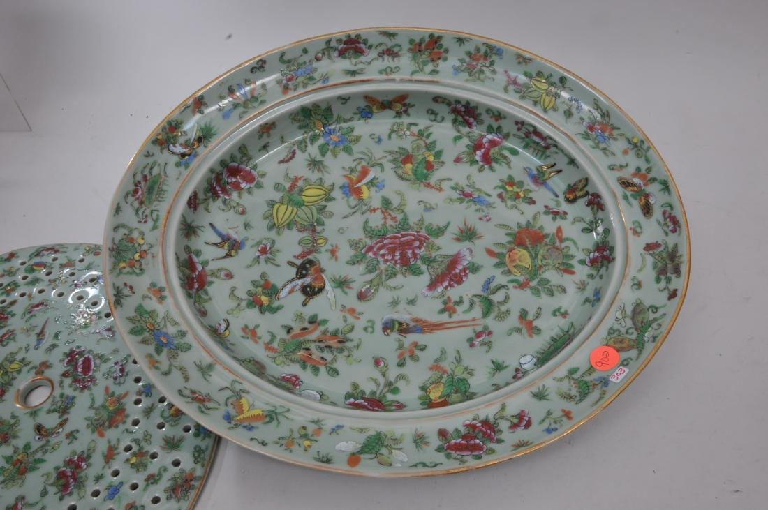 Chinese Export platter and liner. Mid to late 19th - 3
