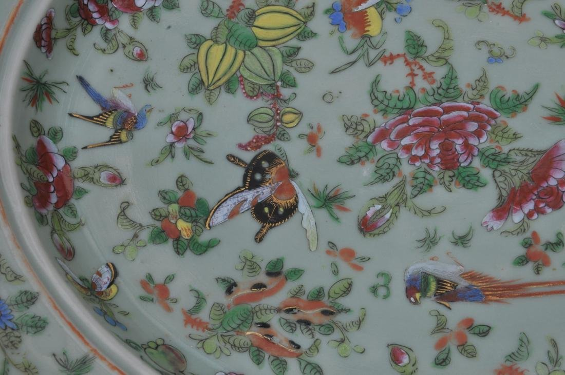 Chinese Export platter and liner. Mid to late 19th - 4
