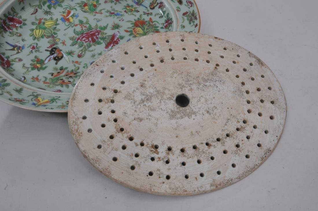 Chinese Export platter and liner. Mid to late 19th - 5