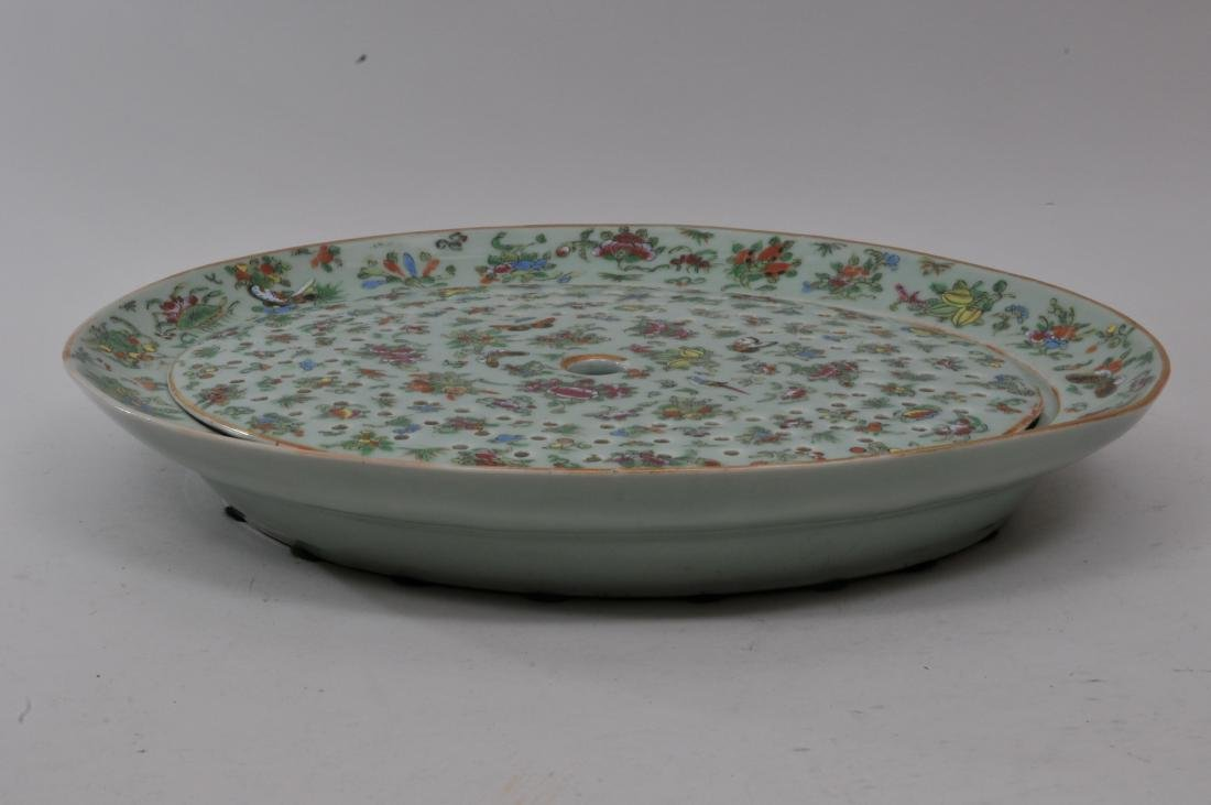 Chinese Export platter and liner. Mid to late 19th - 7