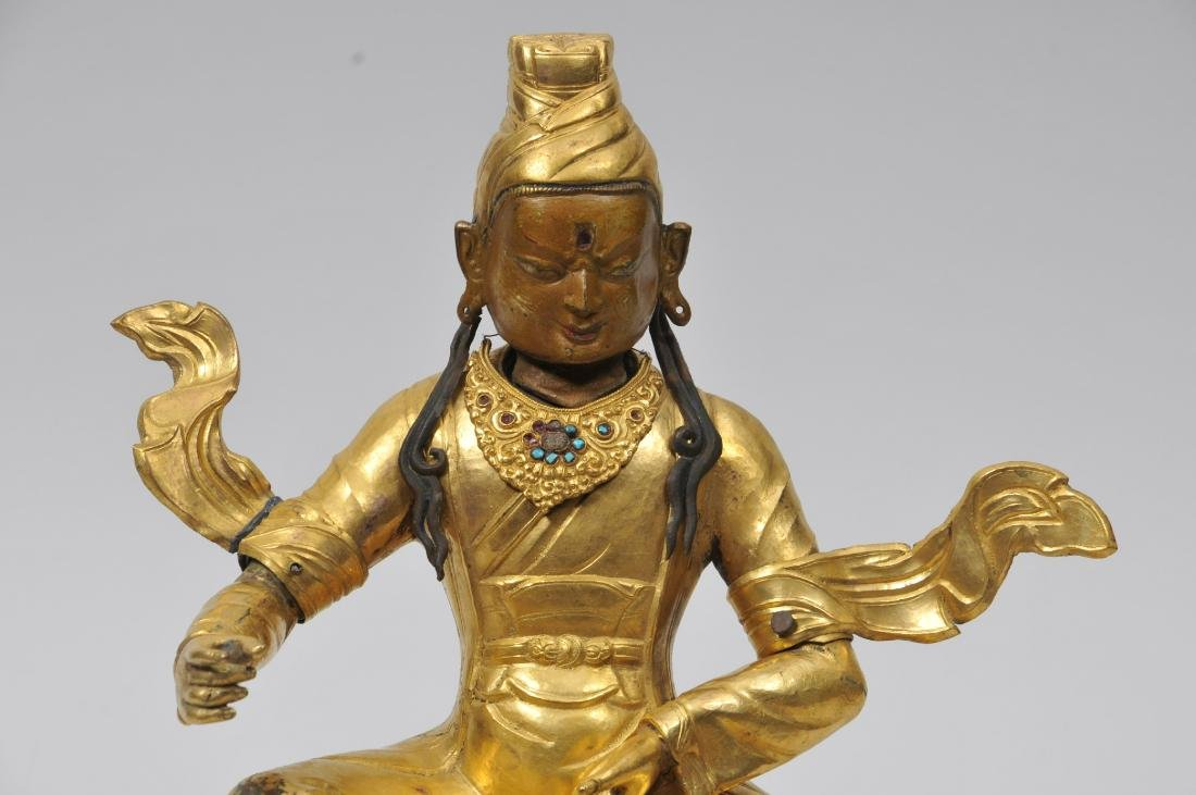 Repousse gilt copper image. Tibet. 19th century. Seated - 2