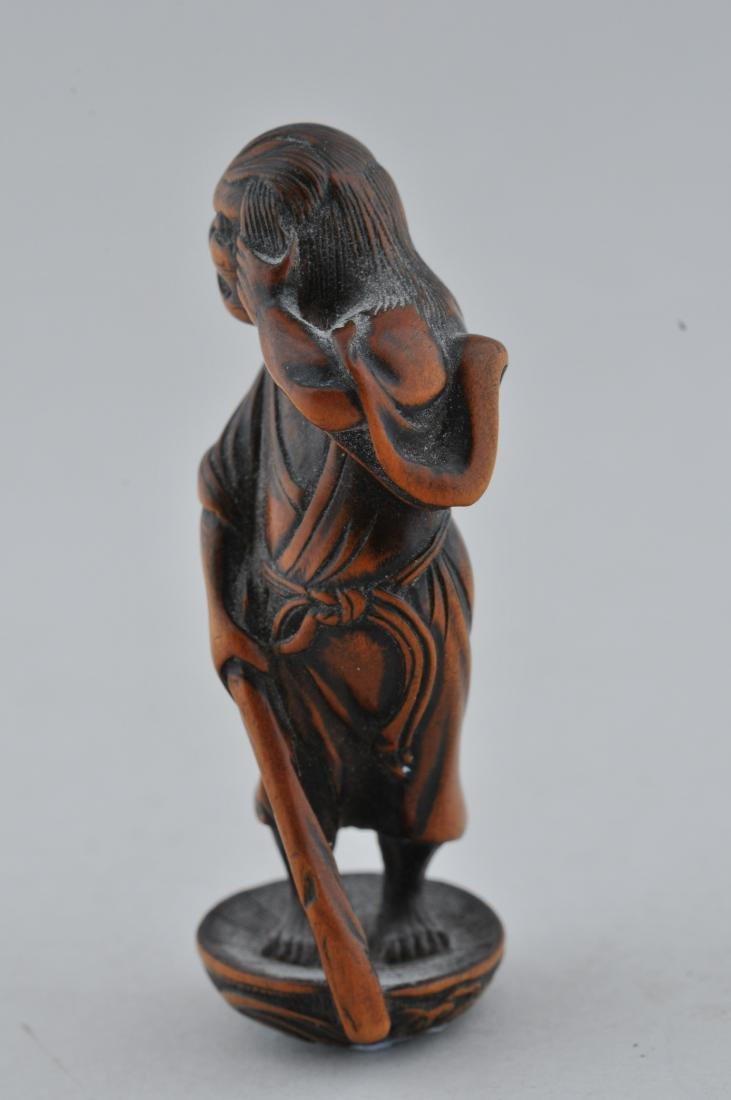 Wooden Netsuke. Japan. 19th century. Standing figure - 2