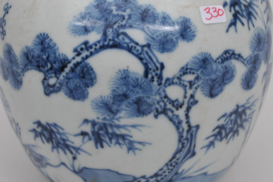 Porcelain jar. China. 18th century. Oviform shape - 4