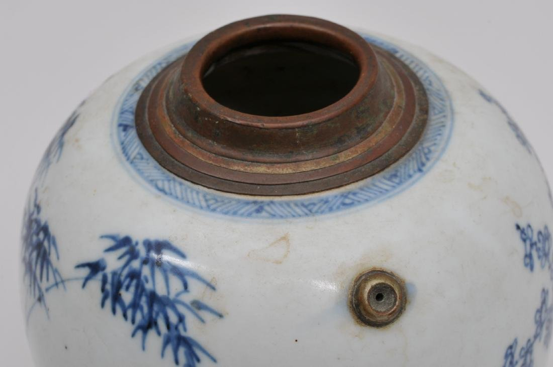 Porcelain jar. China. 18th century. Oviform shape - 6
