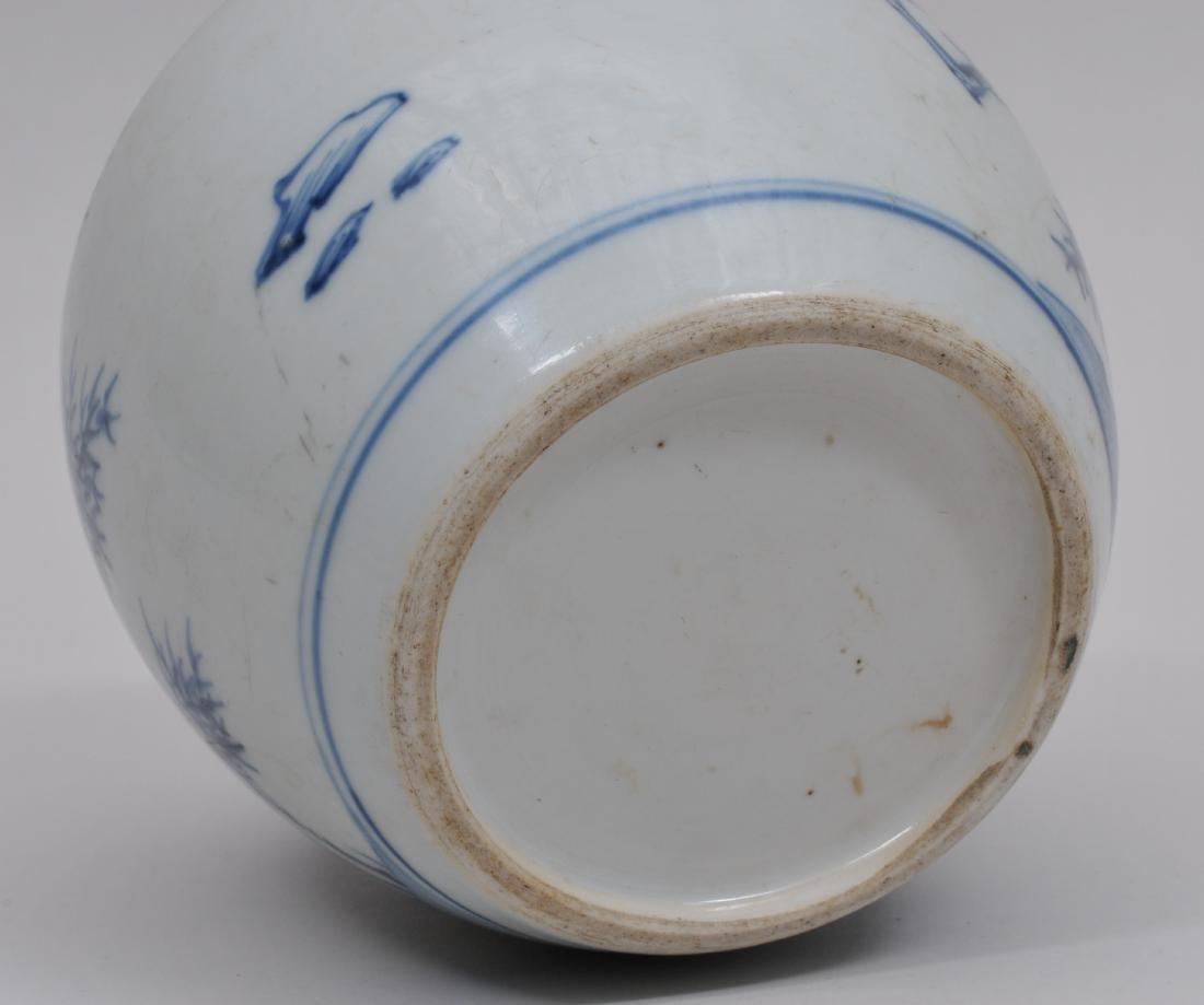 Porcelain jar. China. 18th century. Oviform shape - 7