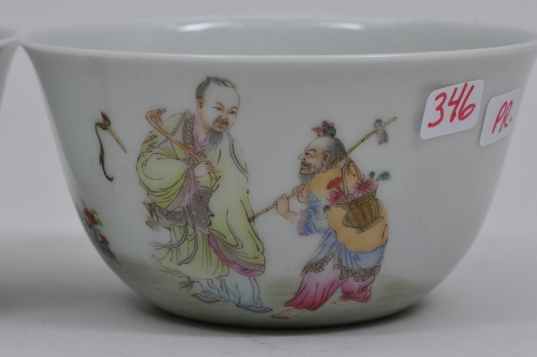 Pair of porcleain cups. China. Early 20th century. - 3