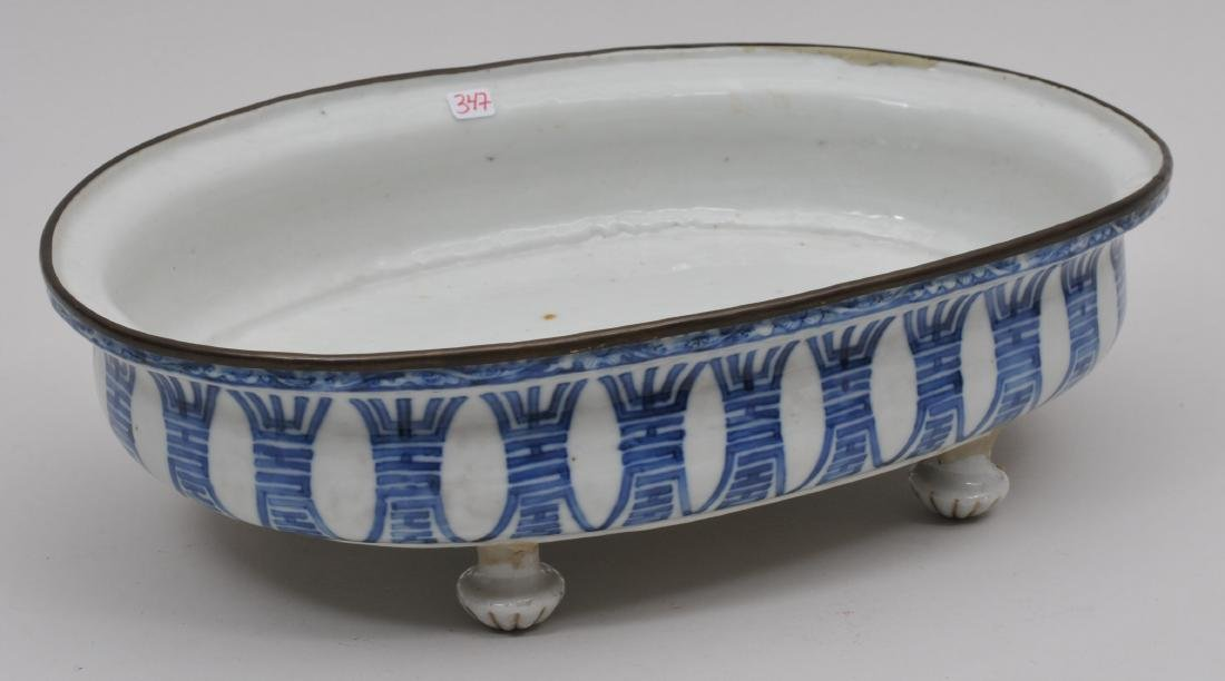 Porcelain planter. Chinese Export ware for the South