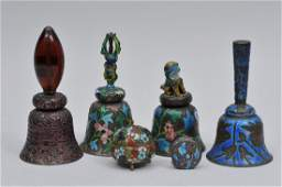 Lot of six enameled works. China. Early 20th century.