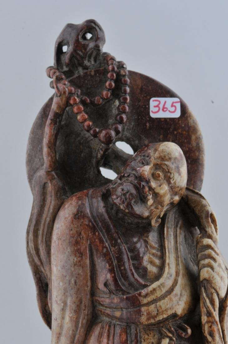 Soapstone carving. China. 19th century. Standing figure - 2