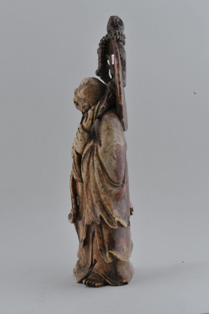 Soapstone carving. China. 19th century. Standing figure - 6