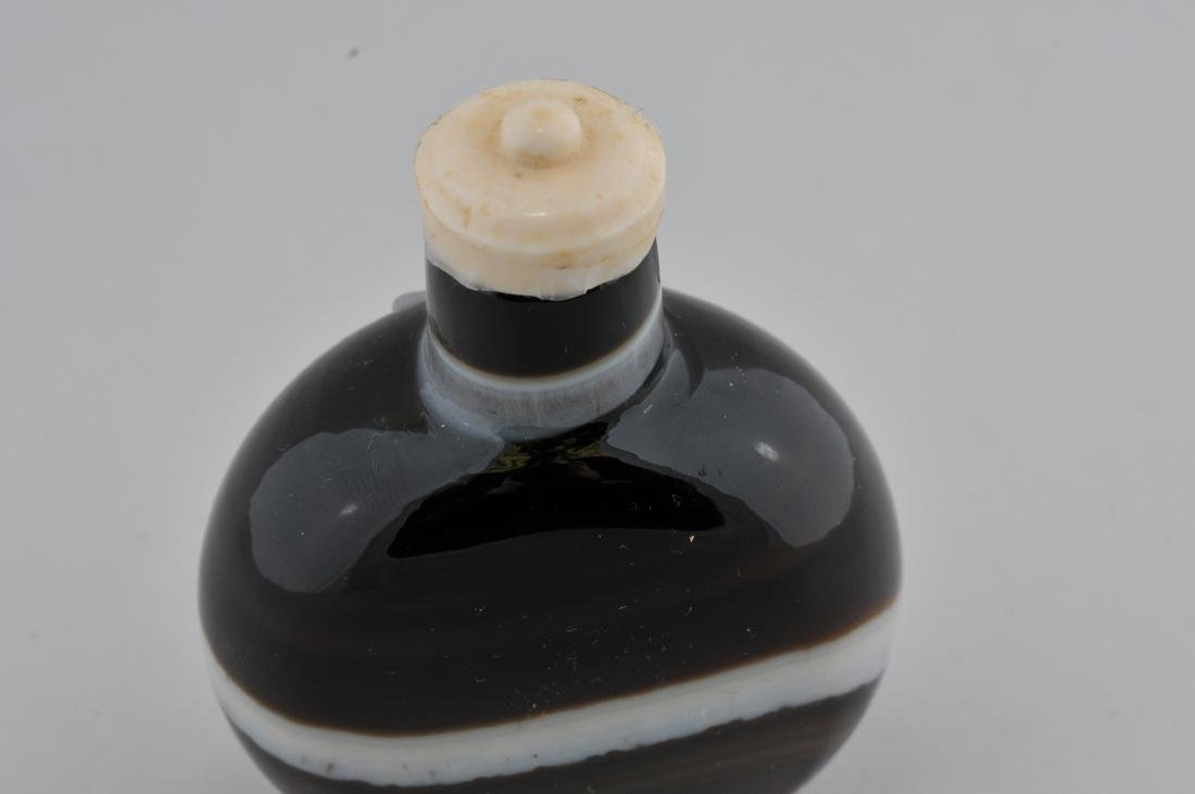 """Banded Agate Snuff bottle. China. 2-3/4"""". - 2"""