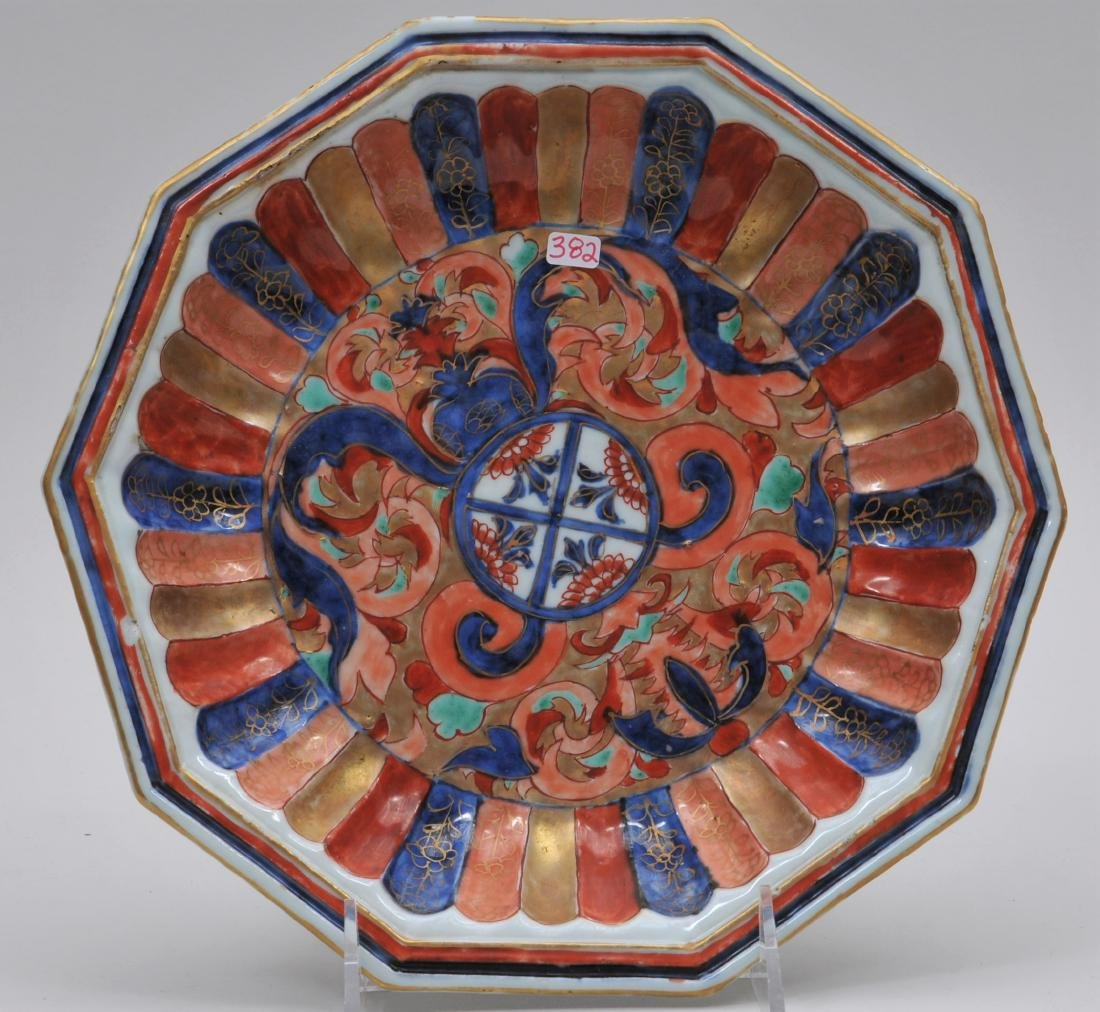 Chinese Export bowl. 18th century. Hexagonal form.