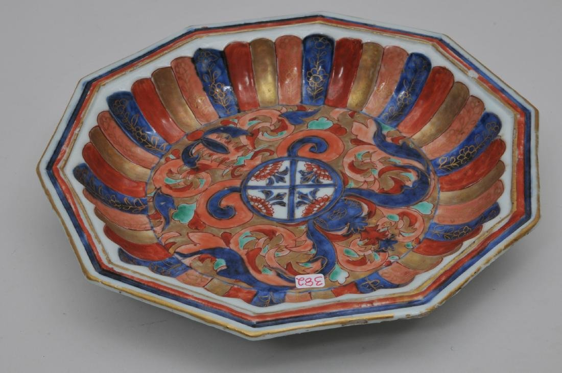 Chinese Export bowl. 18th century. Hexagonal form. - 5