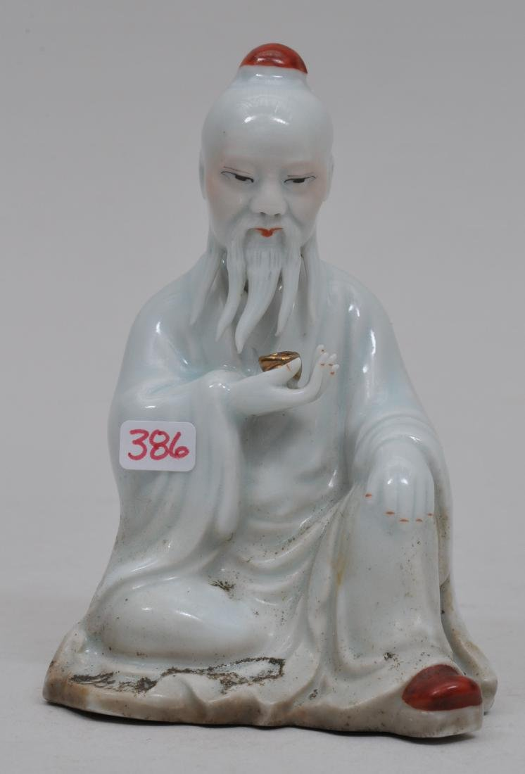 Porcelain figure. China. Early 20th century. Old man