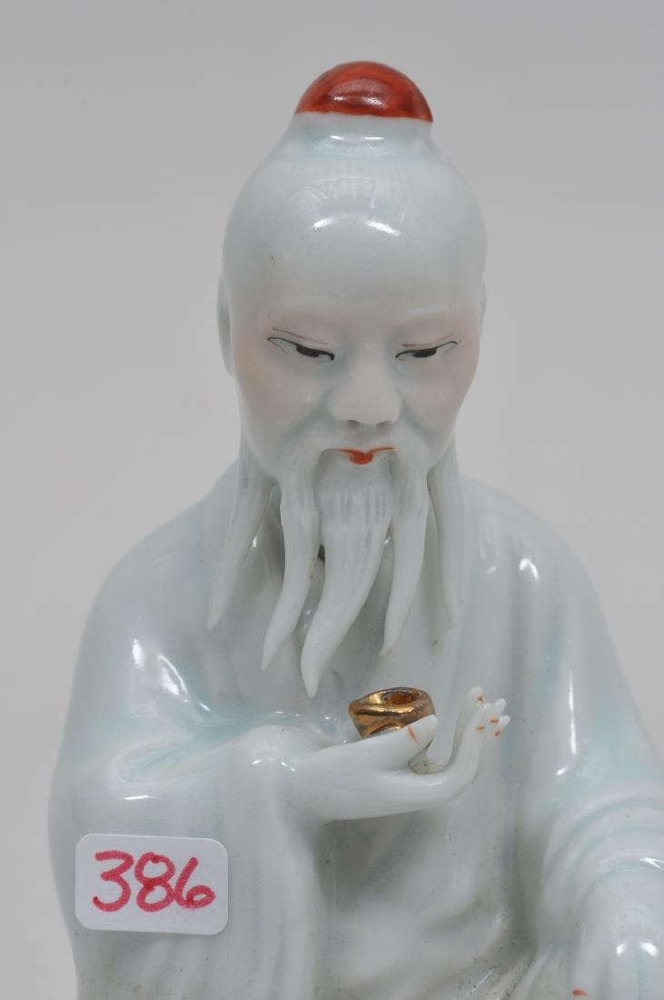 Porcelain figure. China. Early 20th century. Old man - 2