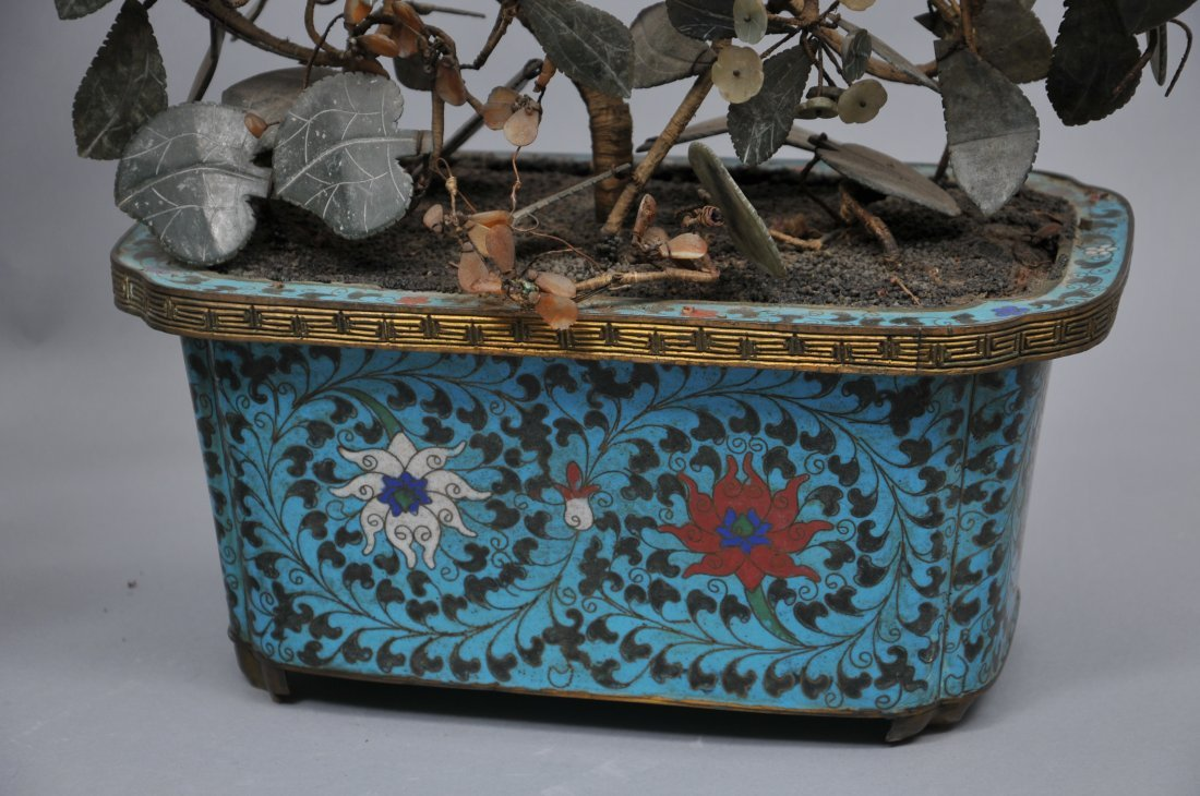 Pair of planters. China. 19th century. Cloisonne bases - 4