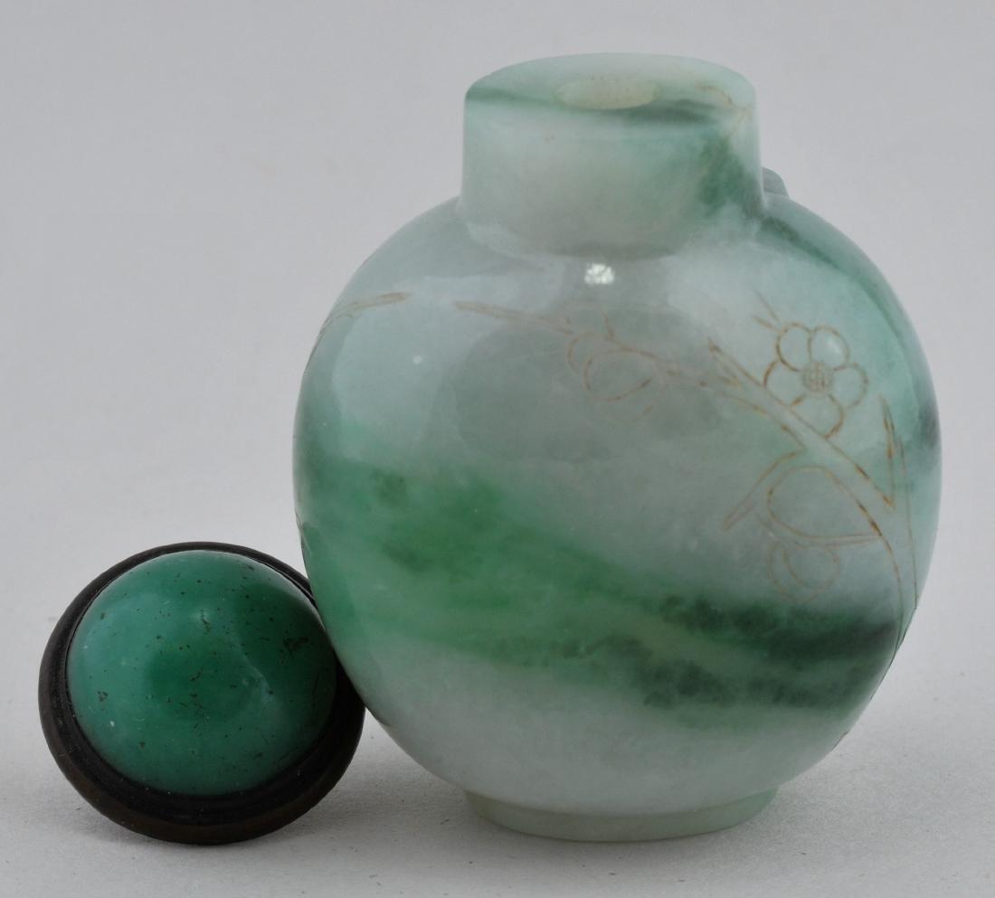 Jadeite Snuff bottle. China. Early 20th century. Areas