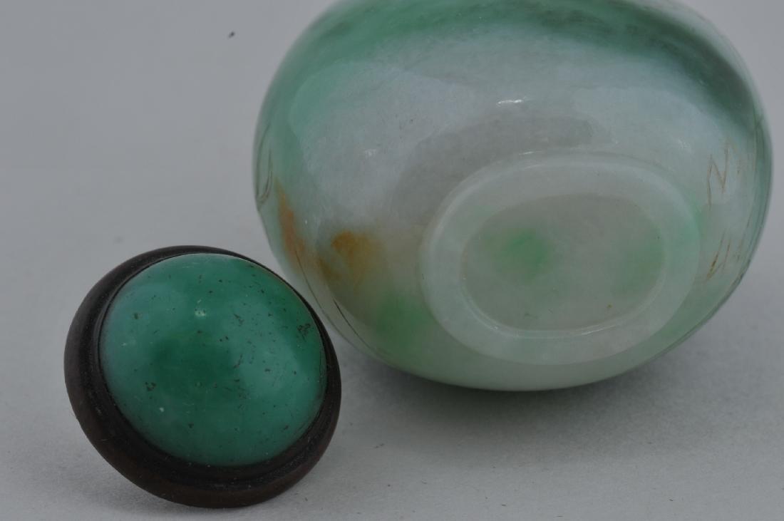 Jadeite Snuff bottle. China. Early 20th century. Areas - 5